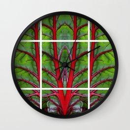 Swiss Chard - Leaf of Life Wall Clock