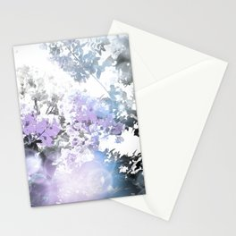 Watercolor Floral Lavender Teal Gray Stationery Cards
