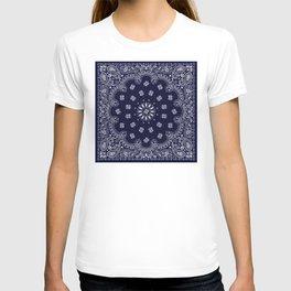 Paisley - Bandana - Navy Blue - Southwestern - Cowboy T-shirt