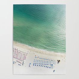 Helicopter View of Miami Beach Poster