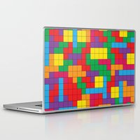tetris Laptop & iPad Skins featuring Tetris Attack by Shannon's Sketchfest