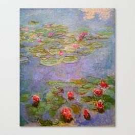 "Claude Monet ""Red Water Lilies"", 1919 Canvas Print"