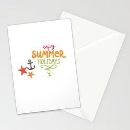 070 enjoy summer holidays Stationery Cards