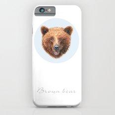 Brown Bear portrait Slim Case iPhone 6s