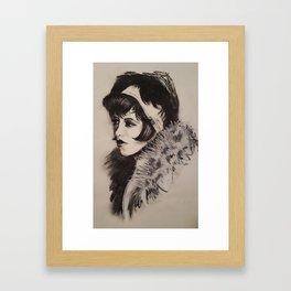 1920's Woman Framed Art Print