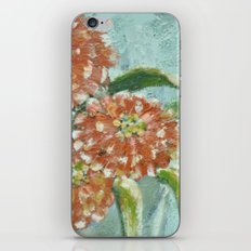 Orange Zinnias iPhone & iPod Skin