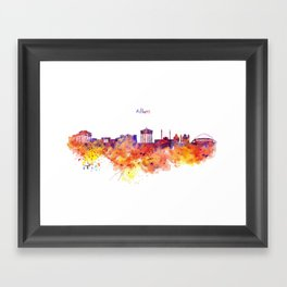 Athens Skyline Framed Art Print
