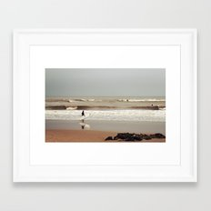 The surfer Framed Art Print