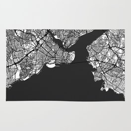 Istanbul Map Gray Rug