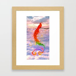 The color phoenix Framed Art Print