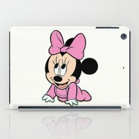 minnie mouse iPad Cases featuring Cute baby Minnie Mouse by Yuliya L