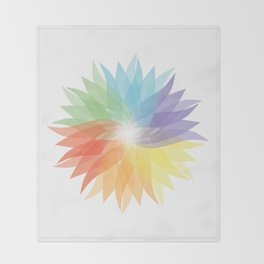 colorful lady Throw Blanket