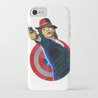 peggy carter iPhone & iPod Cases featuring Peggy Carter by Farah Jayden