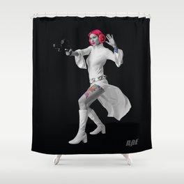 Princess Leia Strikes Back Shower Curtain