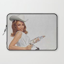 Vodka Martini - Julie Newmar Cowgirl - When I say Bloody Mary...Alcoholic Beverages Vintage Poster Laptop Sleeve