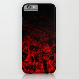 Red Nite - black red triangle geometric swirl gradient pattern iPhone Case