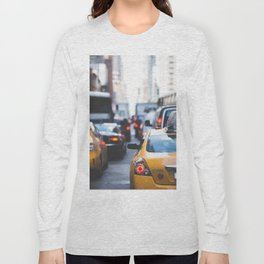 TAXI - CAB - CITY - CARS - PHOTOGRAPHY Long Sleeve T-shirt