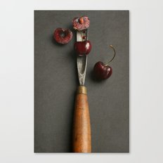 Cherries and Vintage Chisel Canvas Print