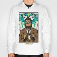 royal tenenbaums Hoodies featuring Richie Tenenbaum (Royal Tenenbaums) Movie Poster Print  by Nick Howland