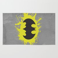 bat man Area & Throw Rugs featuring Bat Man by Some_Designs