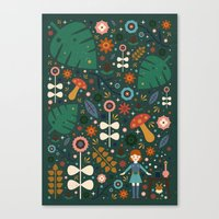 nausicaa Canvas Prints featuring Nausicaa by Carly Watts