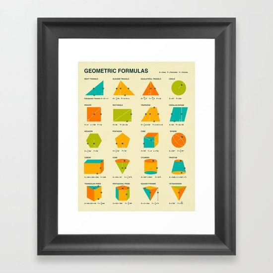 GEOMETRIC FORMULAS Framed Art Print