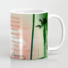 """""""Inspiration At Catalina"""" with poem: My Own Day Coffee Mug"""