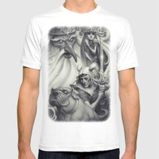 Another Castle :: Duotone Print White MEDIUM Mens Fitted Tee