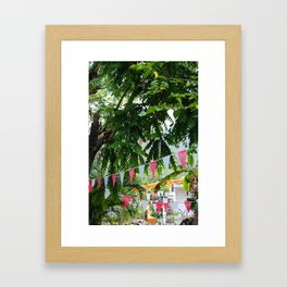 Dreamy Mexican Street Framed Art Print