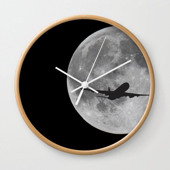 Big Moon Wall Clock By Id70my Society6