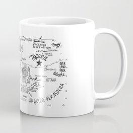 Kansas - Hand Lettered Map Coffee Mug