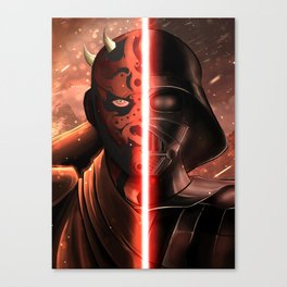 Darth Maul & Vader split Canvas Print