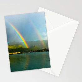 Hawaii Double Rainbow Stationery Cards
