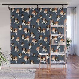 Henry, Daisy and Dory Pattern Wall Mural