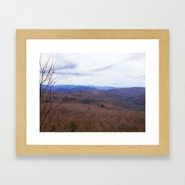Catskills - Fall sky Framed Art Print