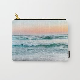 Aqua, Turquoise, Pink, Sunset Ocean Carry-All Pouch