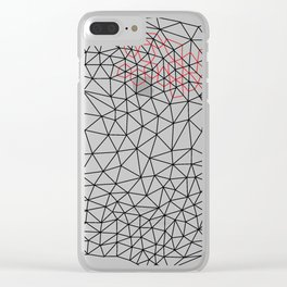 Geometric triangulation drawing Clear iPhone Case