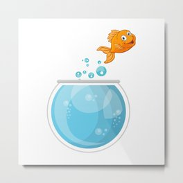 Glodfish On The Go To Freedom Metal Print