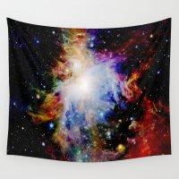 galaxy Wall Tapestries featuring GaLaXY : Orion Nebula Dark & Colorful by Galaxy Dreams