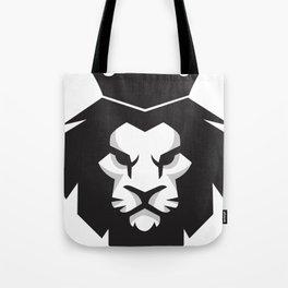 Black & White lion x Crown Tote Bag