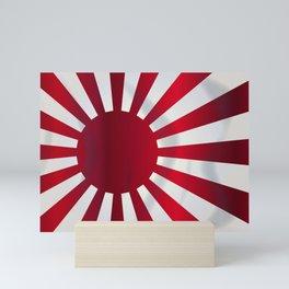 Japanese Rising Sun Flag Mini Art Print