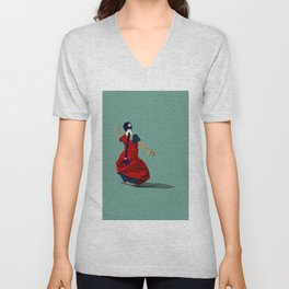 Indian Classical Dancer Pose I Unisex V-Neck