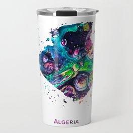 Algeria Map Travel Mug