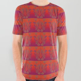 Sunset Paisley All Over Graphic Tee