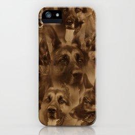 German Shepherd Dog collage iPhone Case