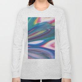 Aurora Flare - Abstract Acrylic Art by Fluid Nature Long Sleeve T-shirt