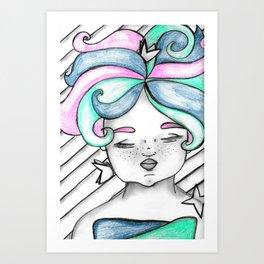 Baby Flutterbye Art Print