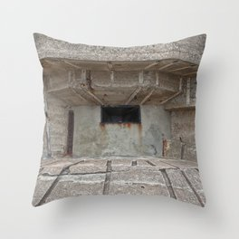 Jersey War Bunker Throw Pillow
