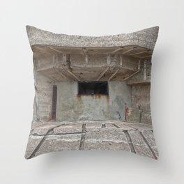 Jersey War Bunker Throw Pillow