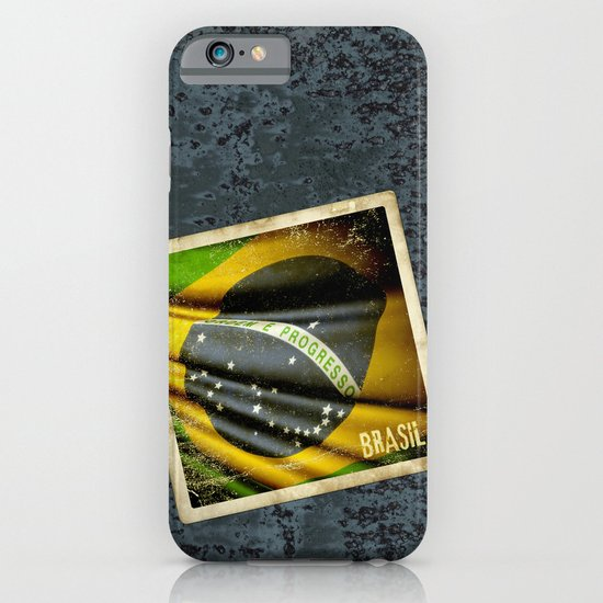 Sticker of Brazil flag iPhone & iPod Case